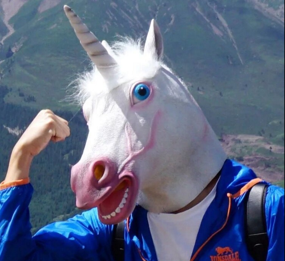 2018 Licorne Cheval Masque Halloween Creepy Party Deluxe Nouveauté Costume Party Cosplay Prop Latex Creepy Head Full Face Masque