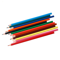 DoreenBeads Wood Drawing Pencils 12 Colors School Office Children Supplies Stationery 1 Box Approx 12 PCs