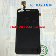 Wcdma sólo! de calidad superior negro jy-g2f pantalla LCD montaje de la pantalla táctil para JIAYU G2F teléfono móvil reemplazo