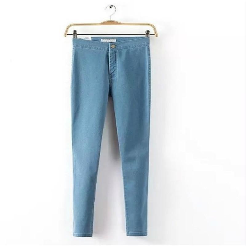 High Waist Jeans For Women Denim Jeans Woman 2016 Black Pencil Women's Jeans Femme Blue Skinny Women Jeans Denim Pants Trousers
