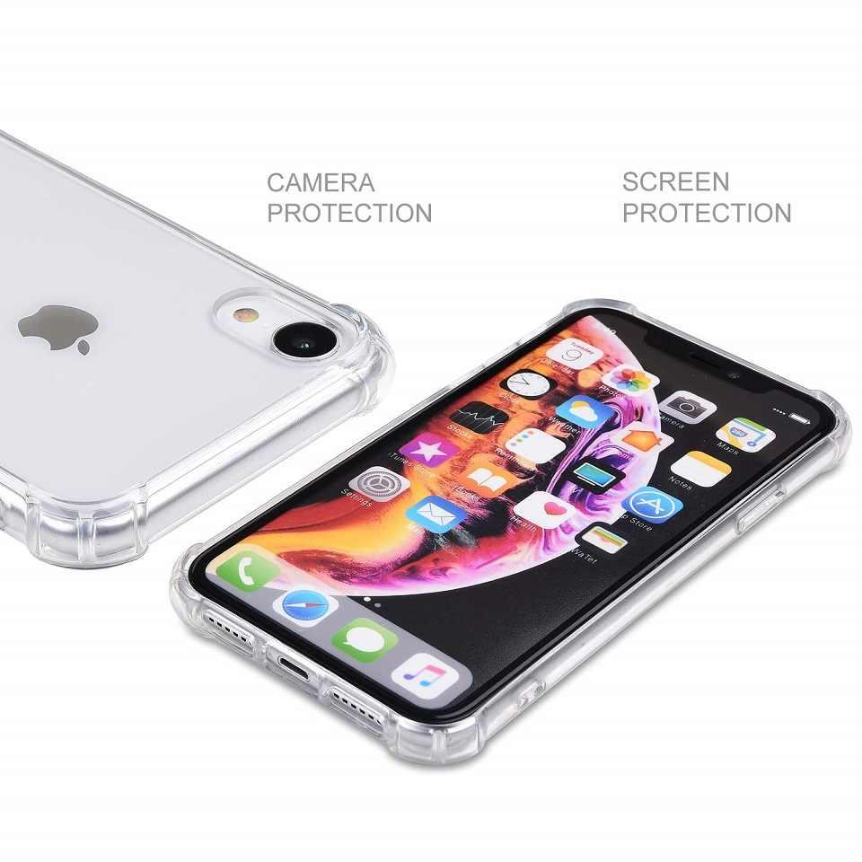Untuk iPhone X Case Slim Bening Lembut TPU Cover iPhone X Max XR X Cover untuk Apple untuk iPhone 7 8 6 S PLUS 5 5 S SE Silikon Kasus