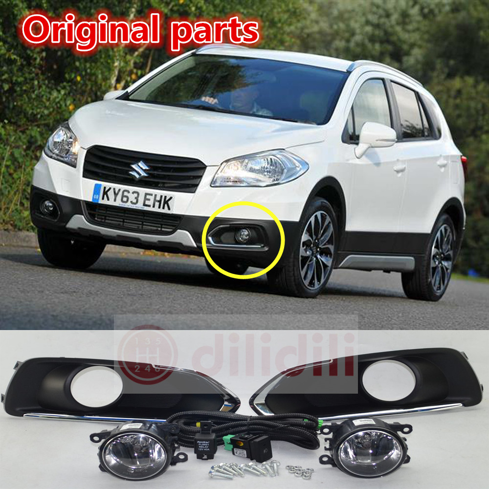 New OEM Fog Lamp light Kit Fit Suzuki SX4 S Cross 2013 2016