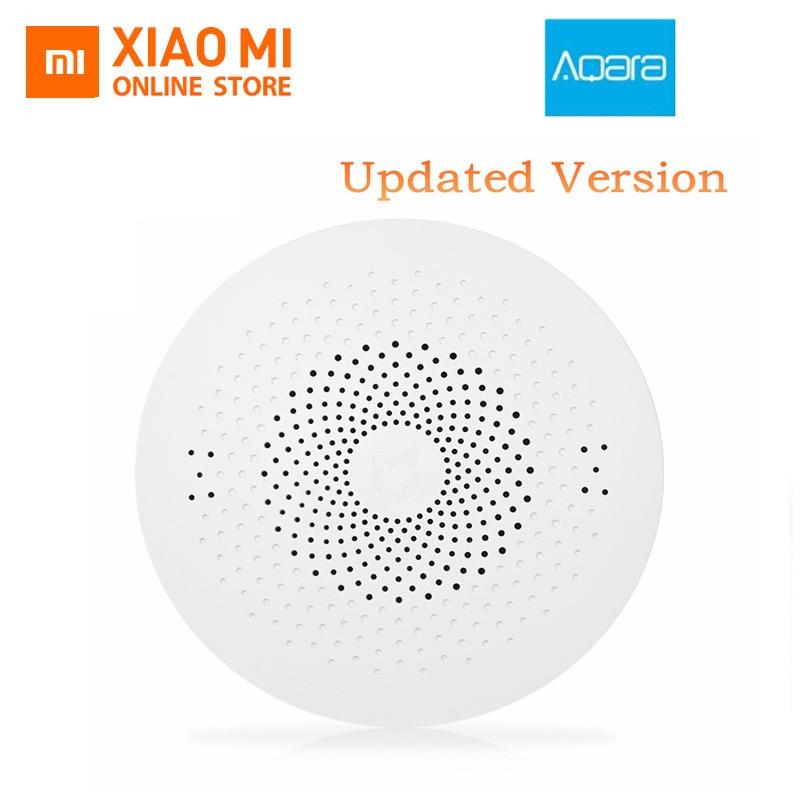 Aktualisiert Xiaomi Aqara Smart Multifunktionale Gateway 2 WiFi Remote Center Control RGB Licht Aktualisiert Version Home Security Gerät