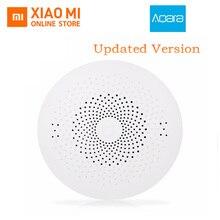 Обновленный Xiaomi Aqara Smart multi функция шлюз 2 Wi Fi дистанционное управление центр RGB света обновленная версия домашнее охранное устройство