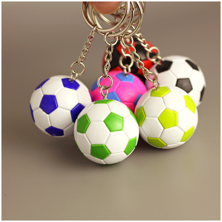 20pcs Hot sale Small Rubber Soccer ball Key chains Toy Key rings ...