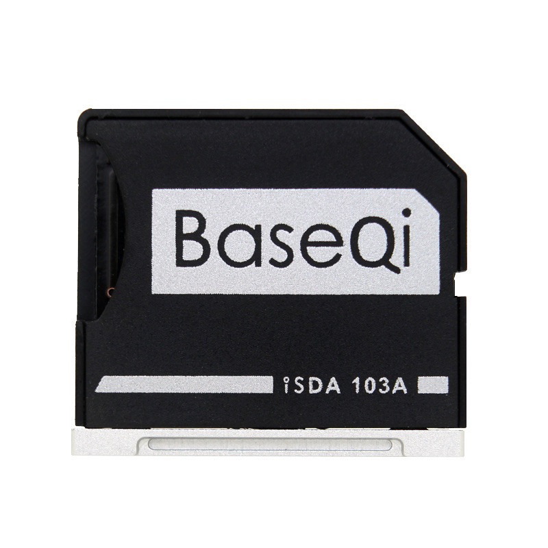 BASEQI Aluminum MiniDrive Micro SD Card Adapter Memory Card Reader For Macbook Air 13'' Model 103A