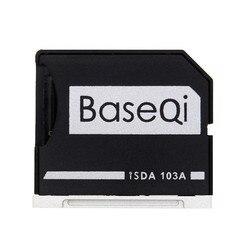 Baseqi minidrive alumínio micro adaptador de cartão sd leitor de cartão de memória para macbook ar 13 model model modelo 103a