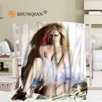 Пользовательские Avril Lavigne одеяло Манта Falafel одеяло диван/кровать/Самолет путешествия постельные пледы набор 56x80 дюймов 50X60 дюймов 40X50 дюймов
