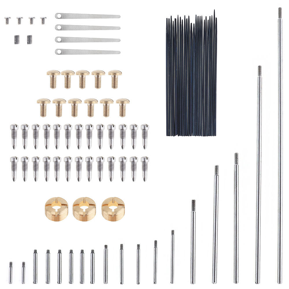 92pcs/lot Saxophone Repair Parts Set Complete Tools Saxophone Key Roller Reed Screws Needle Wind Instrument Repair Kit