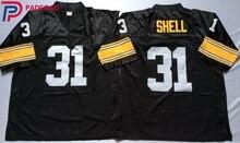 Logotipo bordado Donnie Shell 31 preto Reminiscência CAMISA DE FUTEBOL para  os fãs de alta escola de presente barato 1108-30 bedae3341