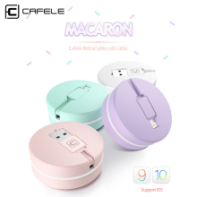 CAFELE Original retractable USB charging Cable For iPhone 7 6s plus 5s SE micro for android Samsung S6 S7 xiaomi huawei HTC