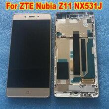オリジナル最高よくテストフレーム + Lcd ディスプレイパネルのタッチスクリーンデジタイザ国会 Zte ヌビア Z11 NX531J 電話センサー部品