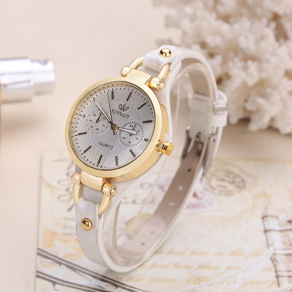 Fashion Brand Hot Womens Casual Leather quartz rose gold Watch Ladies bracelet Watches luxury reloj mujer