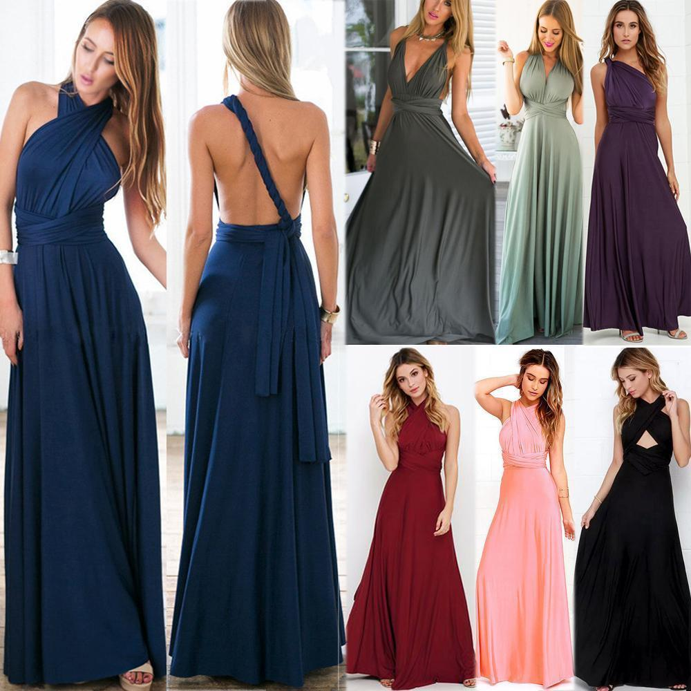 Women convertible multi way wrap maxi dress backless sexy beach women convertible multi way wrap maxi dress backless sexy beach sundress bridesmaid party dresses bandage bodycon long prom gown in underwear from mother ombrellifo Images
