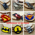 DC Comics Movie Superman Vs Batman Action Figure Metal Keychain Toy Pendant Chaveiro Stainless Steel Toy Gags & Practical Jokes