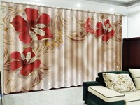 3d Curtains Starry Dreamy Diamond Studded Flowers High Grade Curtains Decorate Interior Windows Beautiful Curtains