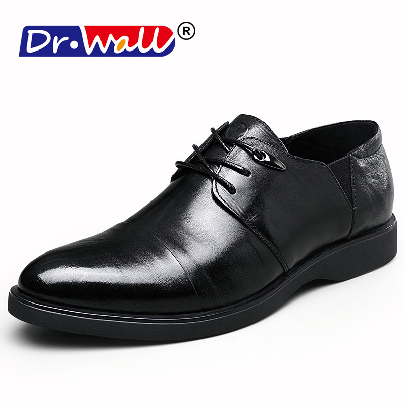 2018 New Fashion Men Shoes Genuine Leather Men Dress Shoes Brand Luxury Men's Business Casual Classic Gentleman Shoes Man 2016 new high quality genuine leather men business casual shoes men woven breathable hole gentleman shoes brand taima 40 45