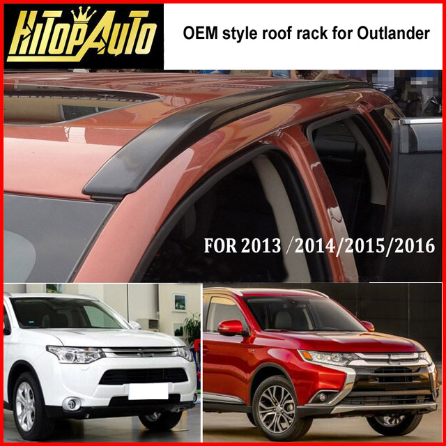 for Mitsubishi Outlander roof rack roof rail roof bar 2013 2017 thick aluminum alloy fix by