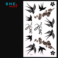Free Shopping New Hot Style The Swallow Bird temporary tattoo Tattoo Stickers Waterproof Body art Painting