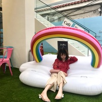 Very large floating clouds Water floating bed Water Toys floating mat summer swimming water game pool part