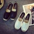 2015 Nueva Otoño Mujeres Casual Zapatos Planos Zapatos de Moda Transpirable Blanco Mujeres Loafers Slip On Zapatos Pescador Caliente Zapatos de Conducción