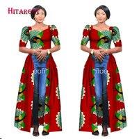 Hitarget 2017 African Dresses For Women Dashiki Cotton Wax Print Batik Long Dress For Femal Traditional