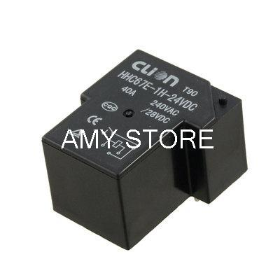 DC 24V Coil SPST 4 Pin 40A Mini Power Relays PCB Type HHC67E-1H(T90) 5 x dc 12v coil spdt 6 pin 1no 1nc mini power relay pcb type hjr 4102 l