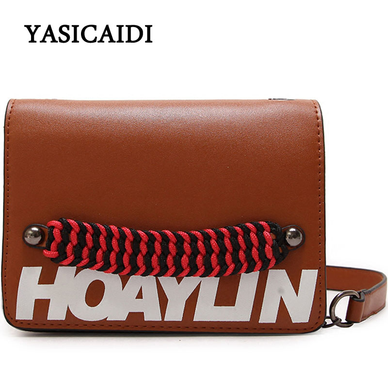 New Bag Girl 2018 Summer Women Shoulder Bag Chain Trendy Wide Strap Lady Flap Letter Fashion Woman Messenger Crossbody Bag