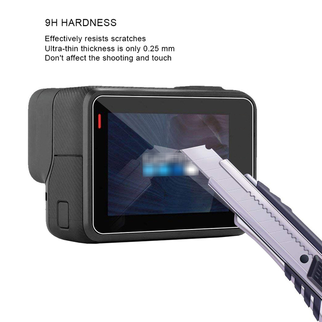 Tempered Glass Protector Film for Gopro Hero 6 5 Lens Cover+LCD Screen Protective Film For Go Pro Hero 6 5 Black Accessories