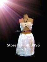 Сексуальная оптическое волокно Световой юбка для производительности клуб/модный показ/Сингулярные платье/Показать Костюмы