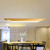 Wood Pendant Light LED Nordic Light Kitchen Hanging Wood Light Dining Room Table Suspension Modern Lights Fixture