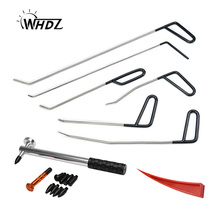 WHDZ Metal Tap Down PDR Rods Car Dent Remover Puller Hail Damage Repair Kit(C1-C6) Auto Body Removal Pdr Rod