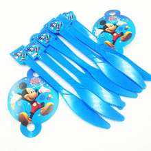 10pcs knife mickey Mouse Girls Kids Birthday Party Decoration Set Mickey Supplies Baby Pack event Favors