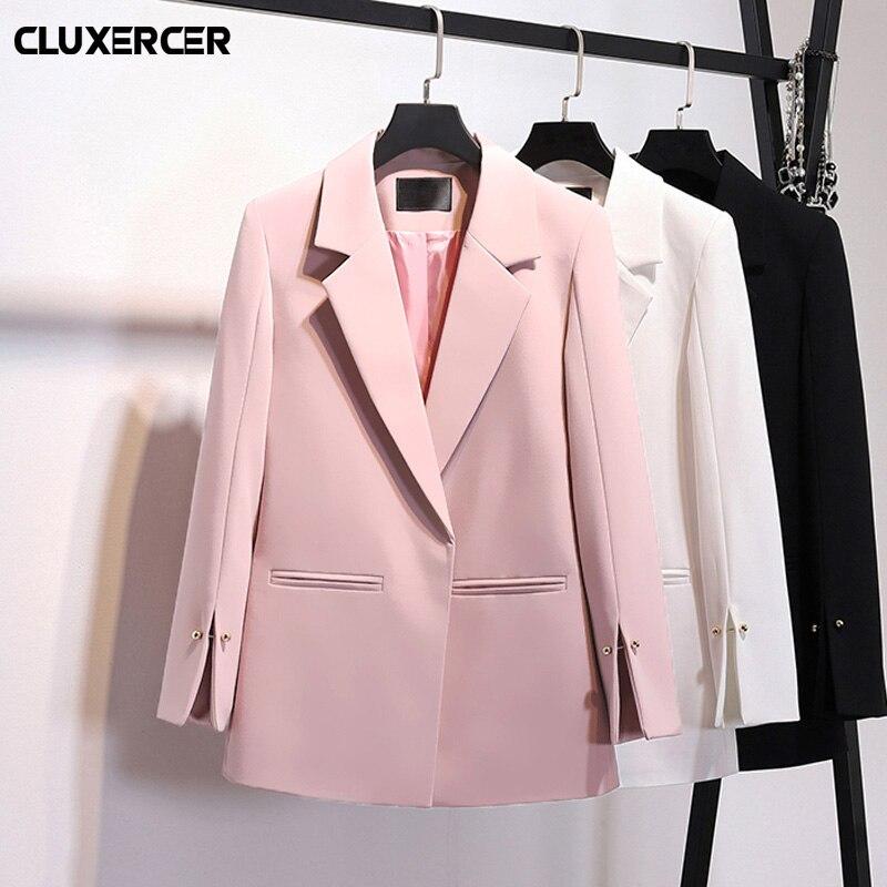 Plus Size Blazer feminino 2018 Spring Autumn Long Sleeve Split design Blaser Female Elegant Blazer chaqueta mujer ...