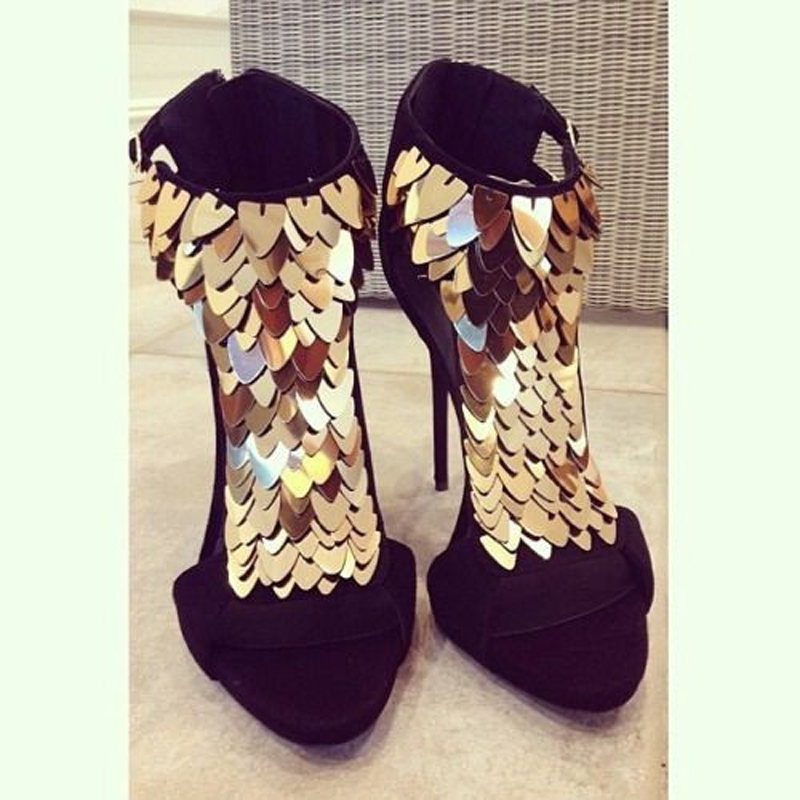 Cheville D'été Chaussures De Robe Mode Talons Nouvelles Wrap Spike Sandales Noir À Gold Bout Ouvert Rouge Gladiateur Femmes Blingbling Hauts B7w5qxHt