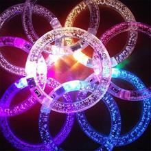 Светящийся браслет акриловая вспышка светодиодный светоизлучающий электронный браслет люминесцентный светящийся браслет игрушки для Рождества