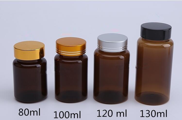 30 pcs Free Shipping 80 100 120 150 ml Brown Plastic Empty ...