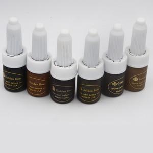 Image 5 - Tinta para tatuaje de café marrón oscuro intenso, 3 uds., pigmento de tinta de maquillaje permanente de rosa dorada para tatuaje de labios y cejas con 12 colores a elegir