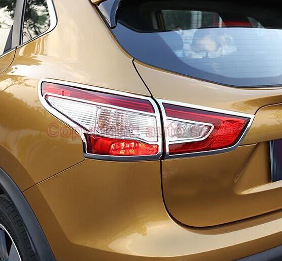 Pour Nissan Qashqai 2014 2015 2016 ABS Chrome garniture de couvercle de feu arrière
