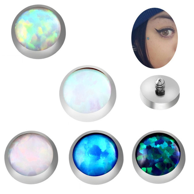 US $3 82 30% OFF|1 Pair Skin Nail Titanium Belly Piercing Bone Burr Head  Drill Leather Anchor Skin Imitation Allergy Helix Piercing Body Jewelry-in
