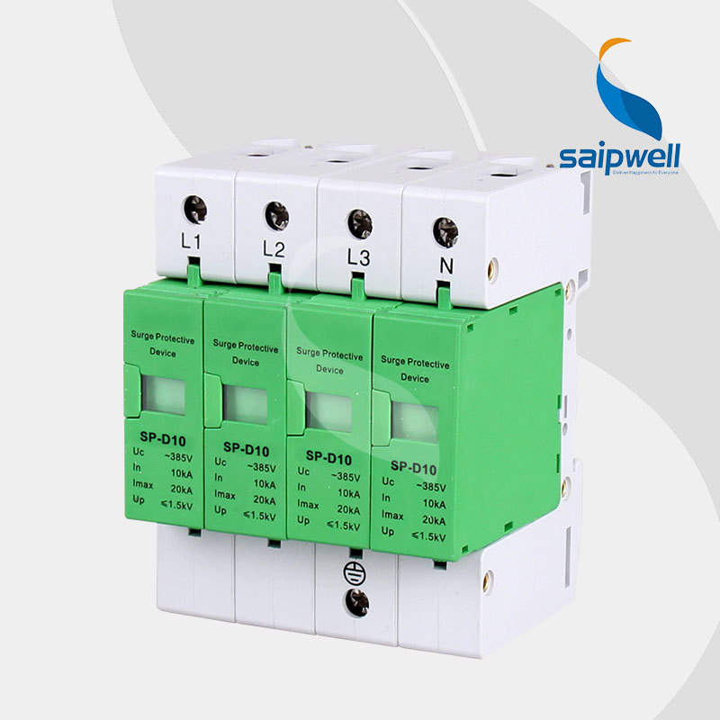 voltage protector surge protector in 20 kamp 385v ce ul approval sp d5 2p AC 385V 20KA Voltage Protector, Surge Protector,Surge Protective Device 4P