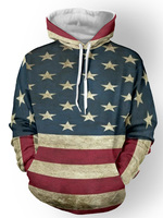 2017 Men S Hoodie Distressed American Flag Pullover Fashion New Cool Long Sleeve Sweatshirt Autumn 3D