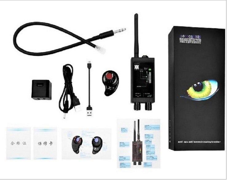 Détecteur de bogue RF M8000 & détecteur de caméra X traqueur GPS détecteur de caméra Scanner détecteurs Anti-espion lentille CDMA GSM détecteur de dispositif