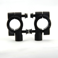 2PCS Brand New Black Motorcycle Handlebar Mirror Mount Universal 8MM 7 8 Aluminum Bracket Holders Adapter