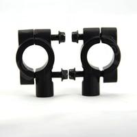2PCS Brand New Black Motorcycle Handlebar Mirror Mount Universal 8MM 7 8 Aluminum Bracket Holders Adapter
