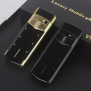 Image 5 - Lüks Telefon Metal Gövde Cectdigi V05 Küçük Mini Çift Sim Flip Slayt Cep Telefonu Bluetooth Sihirli Ses İbranice Rus Telefon