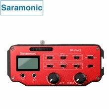 Saramonic SR-PAX2 Amplificador mixer De Áudio Dois XLR e Duas de 3.5mm Jack para DSLR & Mirrorless & Bolso Blackmagic Design Câmera Cinema