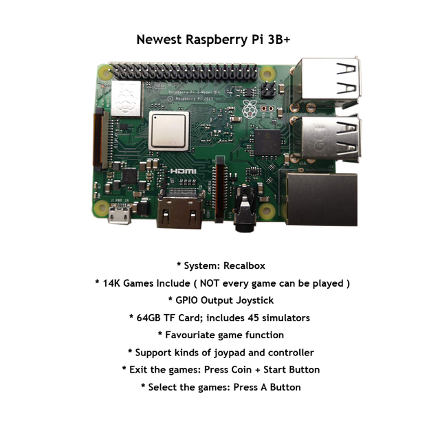 Raspberry Pi 3B + 10 Inch LCD Video Game Console Includes 14K Games Installed 1
