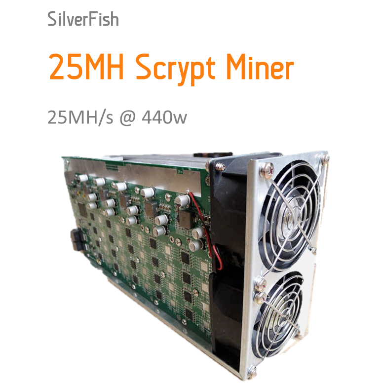 [SOLD OUT] Scrypt Miner 25MH Asic Miner Sliver Fish 25MH Litecoin Miner For Scrypt Mining Substitution Of A2 Terminator(China)