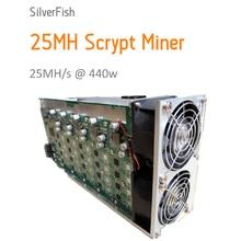 [ПРОДАНО] Scrypt Шахтер 25MH Щепка Рыбы 25MH Litecoin Шахтера для Scrypt Asic Шахтер Горнодобывающей Замена A2 Терминатор